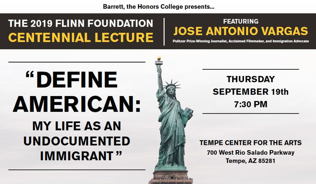 2019 Centennial Lecture September 18th with Jose Antonio Vargas