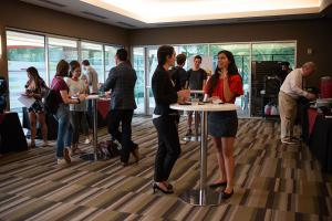 Goodnow event reception - students talking and eating