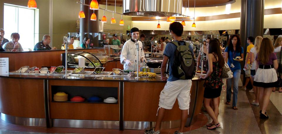 Chef Station In Barrett Dining Hall   Tempe