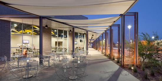 Image of the patio outside the Citrus Dining Pavilion