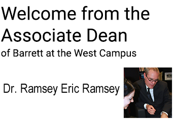 Welcome from Associate Dean Ramsey