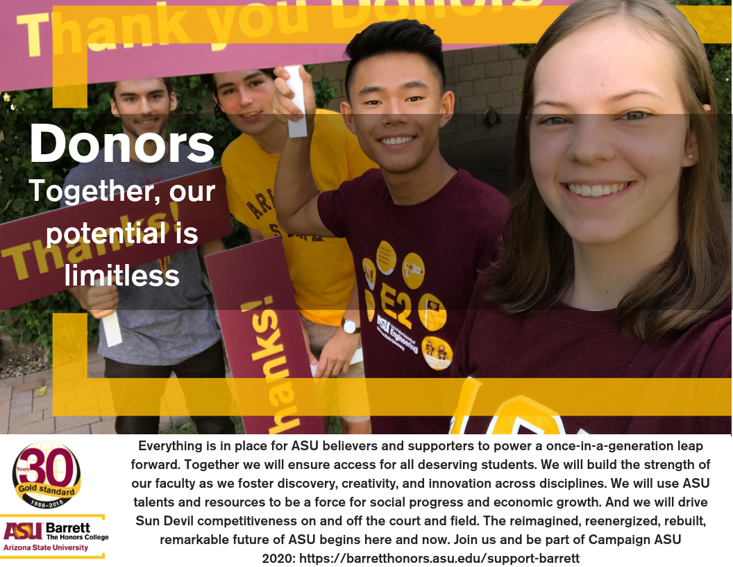 Donors and scholarships
