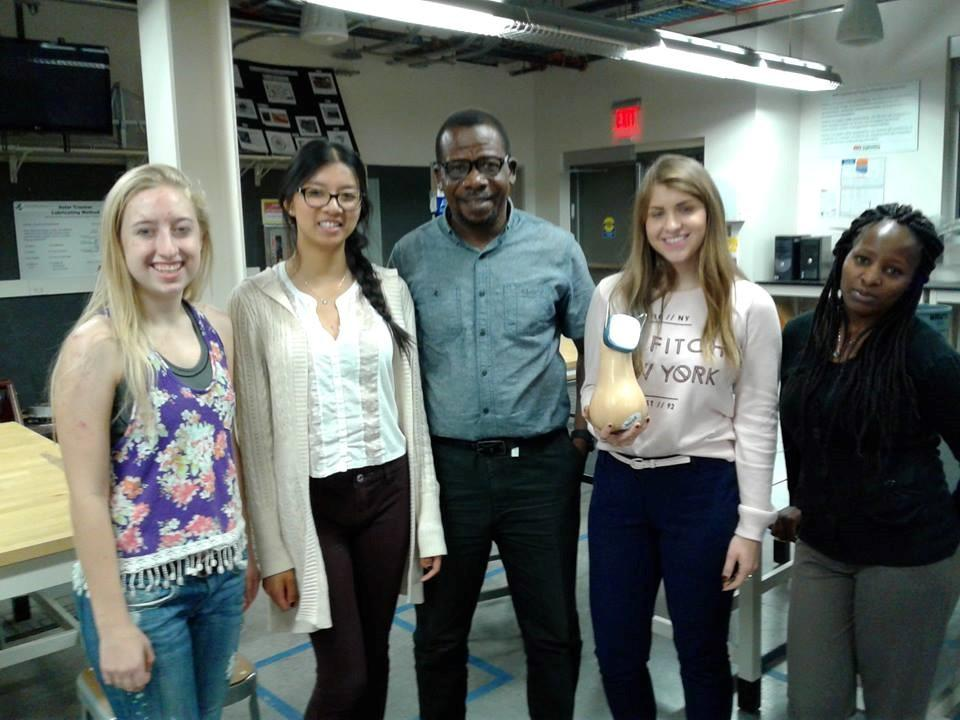 George Obeng with students