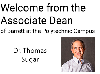 Welcome Message from Dr. Ton Sugar, Associate Dean at Poly