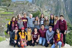 student group photo Peru