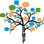 Barrett Mentoring Club logo - stylized tree with leaves in blue, orange and green