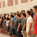 Students practicing in Barrett Honor Choir