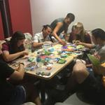 Barrett students creating with Perler beads